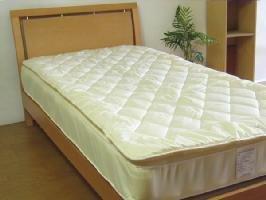 【日本製】 ウール100% ベッドパッド 抗菌防臭加工 高密度生地綿100%使用(シングル 100×195cm(1.0kg))