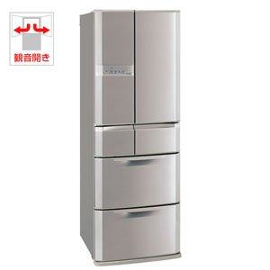 【エコポイント対象商品】三菱 445L 6ドア ノンフロン冷蔵庫(エレガントシャンパン)光ビッグ MR-E45R-N