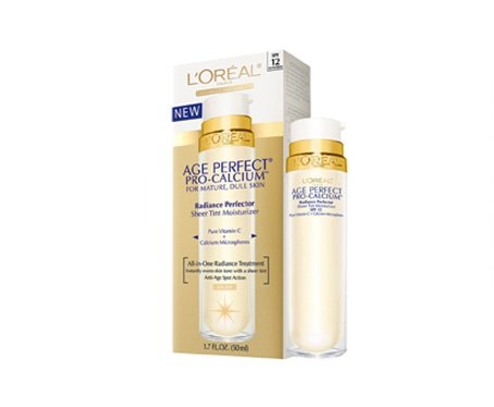 Loreal Age Perfect Pro-Calcium Radiance Perfector Sheer Tint Moisturizer, Medium - 1.7 Oz
