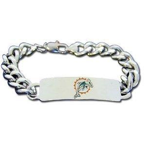 "Miami Dolphins ID Bracelet - Size Small 8 1/2"" Length"