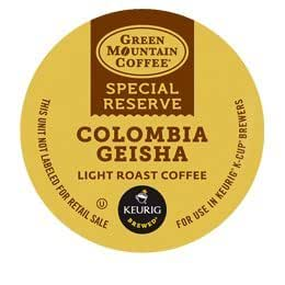18 Count - Green Mountain Coffee Special Reserve Colombia Geisha K-Cup Pack For Keurig K Cup Brewer