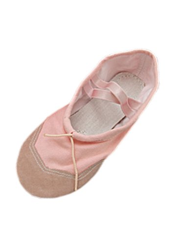 pink-soft-fabric-dancing-ballet-ladies-shoes-size-85