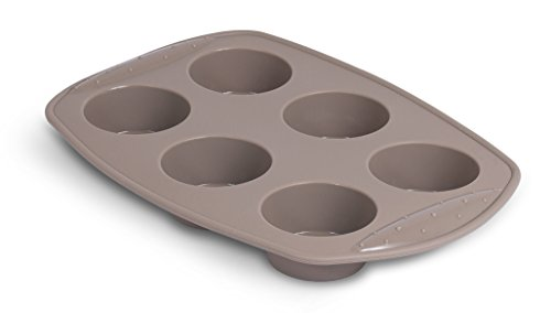 Internet's Best Silicone Cake Mold | 6 Cup | Cupcake Tray | Cake Baking Mold | BPA Free | Dishwasher Safe