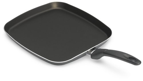 Bialetti 6166 Italian Collection Square Griddle, 11-inch, Charcoal