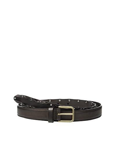 Dolce & Gabbana Cinturón Piel Marrón Oscuro