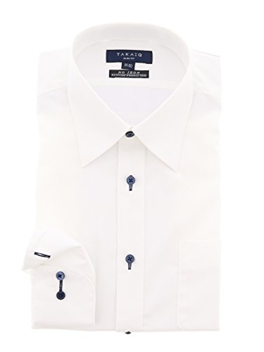 (タカキュー) TAKA-Q:Men 形態安定スリムフィットレギュラーカラーシャツ M:39-84 白