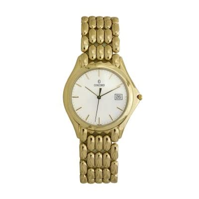 concord 14k solid gold mens ultra thin