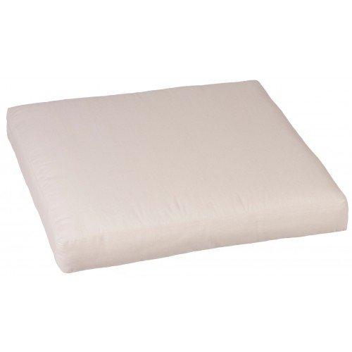 Premium Lounge Sitzkissen 50 cm x 50 cm in der Farbe cremeweiß mit Reissverschlüssen für Rattan Gartenmöbel bestellen
