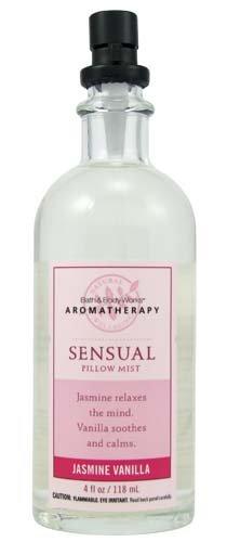 Bath & Body Works Aromatherapy Jasmine Vanilla Sensual Pillow Mist 4 Fl Oz front-56883