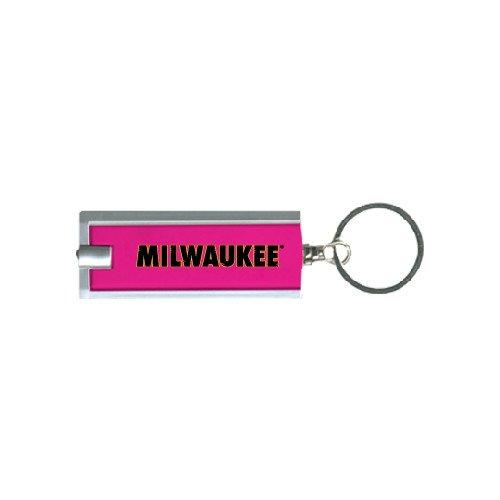 Wisconsin Milwaukee Turbo Pink Flashlight Key Holder 'Milwaukee Wordmark'