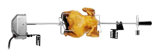 Rotis Pro EC-6004NEW-2.5+S Rotisserie Kit with Steel Outcase Motor, 40-Inch Spit Rod, Bakelite Handle, Stainless Steel Meat Forks, Bracket Set and Nickel Plated Balance