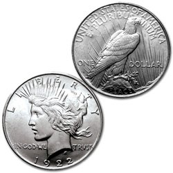 1922-P - PEACE DOLLAR - CHOICE UNCIRCULATED - SILVER DOLLAR