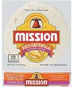 Mission Super Size White Corn Tortillas 10 per pkg. (Pack of 8)