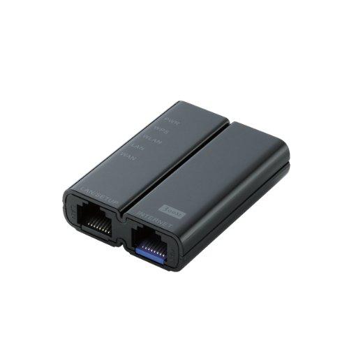 ELECOM 無線LANルーター ホテル用 300Mbps 11n/g/b ブラック 【PS4対応】 WRH-300BK