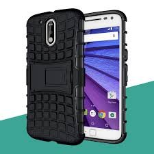 HYBRID ARMOR KICK STAND BACK COVER FOR MOTO G4 PLUS