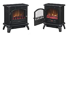 Duraflame 4,600 BTU Black Electric Stove with Thermostat