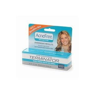 University health care AcneFree delicate acne breakouts & Blackhead Terminator Medicated area manage Gel one oz (2