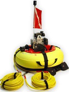 Floating surface scuba compressor hookah for 2 divers for 2 scuba air compressor - Floating dive compressor ...