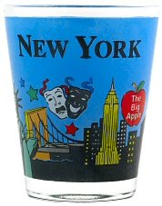 New York Shot Glass - Hand Paint, New York Shot Glasses, New York City Souvenirs