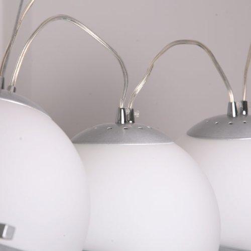 3-er Design Deckenlampe Hängeleuchte Pendelleuchte Milchglas weiches Licht