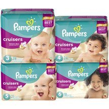 Pampers Cruisers Diapers - Size 3 28 CT (Pack of 6) - 1