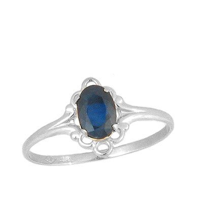 Teens Jewelry - Sterling Silver September Birthstone Ring (size 4)