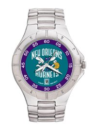 New Orleans Hornets NBA PRO II Metal Sports Watch by Logo Art