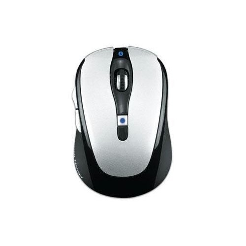 Gear Head Blue Tooth Laser Mouse for Mac Book Pro, Silver with Black Accents (BT9500BLK)