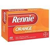 Bayer Healthcare EDI (Otc) Rennie Orange Chewable 48