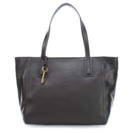 Borsa donna FOSSIL due manici Shopping Emma Tote black pelle ZB6844001