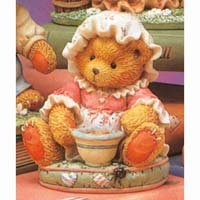 "Cherished Teddies ""I'm Never Afraid with You At my side"" Little Miss Muffet Figurines - 1"