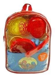What Kids Want Spiderman Sand Backpack Set