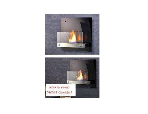 Carlo Milano - Chimenea de bioetanol para pared (cristal de espejo)