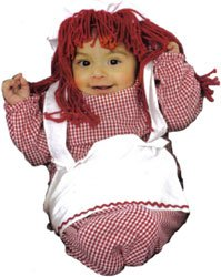 Old Fashioned Doll Baby Bunting Costume - 1