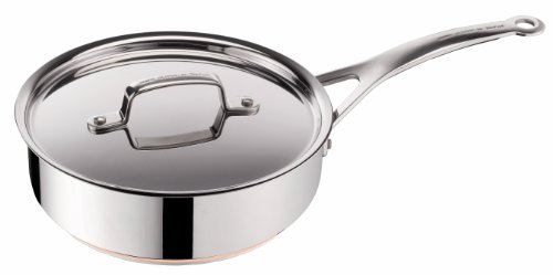 Tefal by Jamie Oliver Stainless Steel Sautepan with Lid, 24 cm