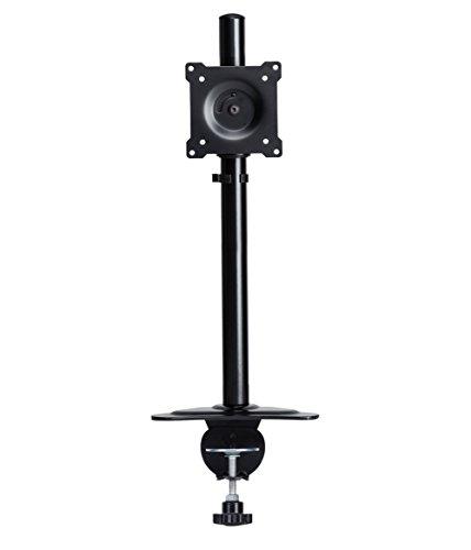 DoubleSight Single Monitor Desktop Mount Clamp Style Adjustable Height Tilt Pivot VESA 75mm/100mm up to 32
