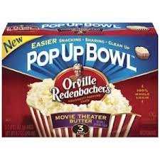 Orville Redenbacher, Movie Theater Pop Up Bowl, Butter, 1.08Lb Box (Pack Of 2)