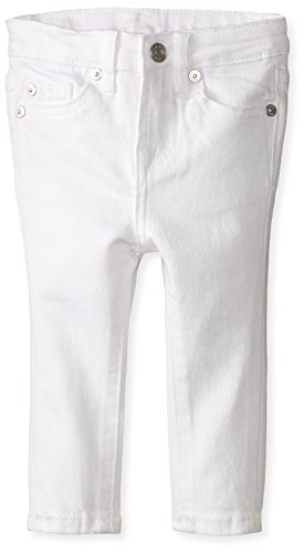 7 for all mankind Baby Girls The Skinny Stretch Denim Jean, Clean White, 24 Months