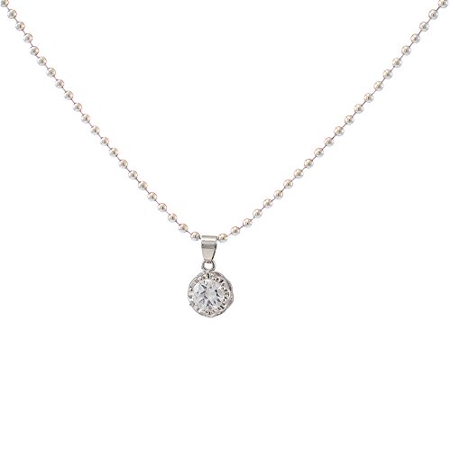 Urthn Alloy Silver Cocktail Chain Pendant - 1200940  available at amazon for Rs.119