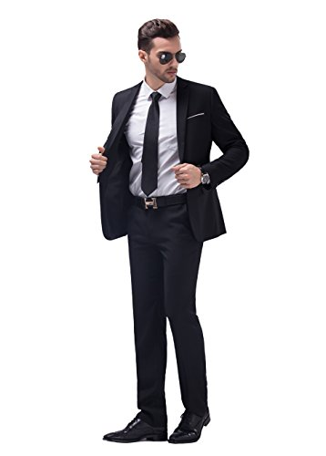 Men's Slim Fit Notch Lapel Suit for Party/ Business