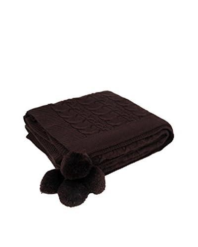 Bottega Tessile Plaid Chocolate 130 x 170 cm
