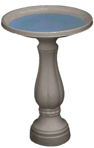 Bloem 270-60 Promo Bird Bath with Pedestal, Peppercorn