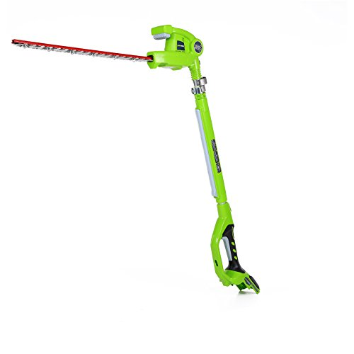Greenworks Tools 2200207 Battery Powered Long Reach Model Hedge Trimmer