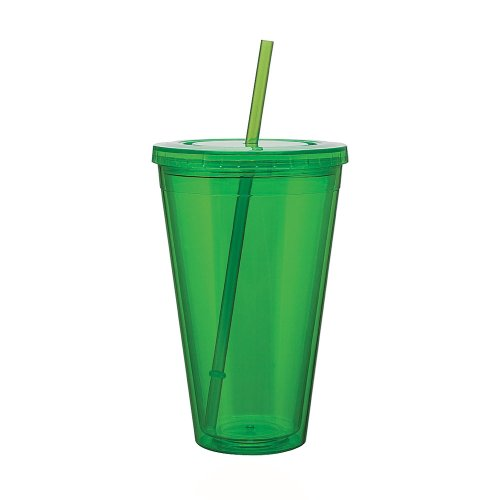 Eco To Go Cold Drink Tumbler - Double Wall -24Oz. Capacity - Apple