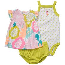 Carter\'s Baby Girl\'s Oh-So-Fun 3-Piece Set - Spring Flowers-NB