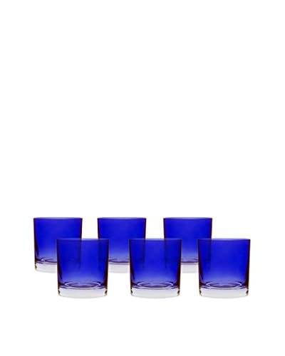 10 Strawberry Street Set Of 6 Love Double Old Fashioned Glasses, Sapphire