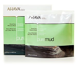 Ahava Pure Dead Sea Mineral Mud  Box of 4  8.5 oz. Packets