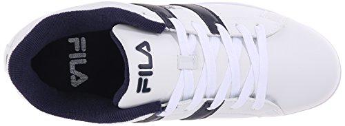 Fila Men's Key West Fashion Sneaker, White/Fila Navy/White, 9 M US