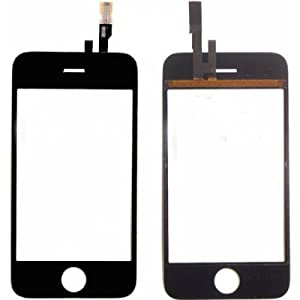 iPhone 3gS Screen Repair Kit - Apple iPhone 3gS Lcd Glass Screen Cover with Touch Screen Digitizer, Frame, Home Flex Button, Ear Speaker and Tool by Generic