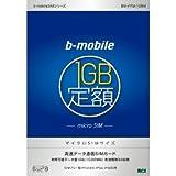 日本通信 有効期間30日間「bモバイル 1GB定額」パッケージ マイクロSIMサイズ版 BM-FRM-1GBM